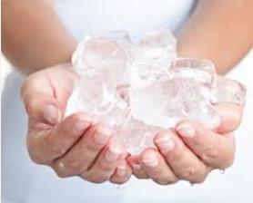 лед, ледяной массаж