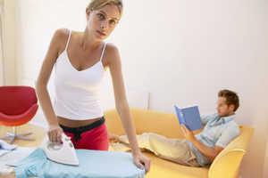 домашние дела, семья, глажка