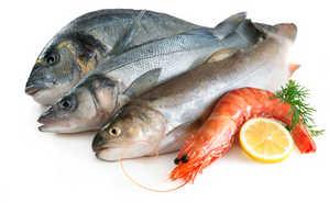морепродукты, рыба, креветка