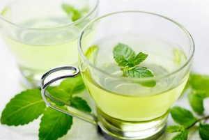 зеленый чай, мята