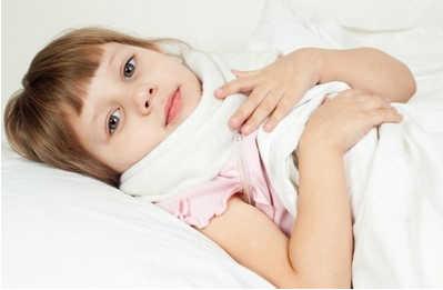 больной ребенок, больное горло, простуда