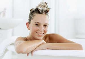 волосы, ванная